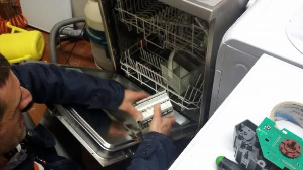 Sostituzione parti difettose lavastoviglie con ricambi originali